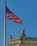 US-Markierungsfahne und nationale Archive Stockfotos