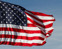 US-Markierungsfahnen-Flugwesen lizenzfreie stockfotos