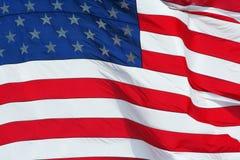 US-Markierungsfahnenmakrohintergrund Stockfotografie
