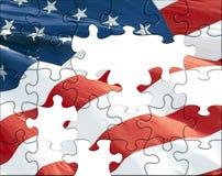 US-Markierungsfahnenpuzzlespiel Lizenzfreie Stockbilder