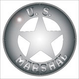 US Marshal Badge Stock Photography