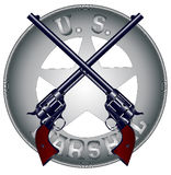 US Marshal Guns and Badge Royalty Free Stock Photos