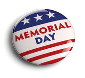 US Memorial Day. Memorial day button badge with USA flag stars and stripes Royalty Free Stock Photo