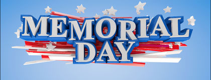US Memorial Day. Memorial day button badge with USA flag stars and stripes Stock Photo