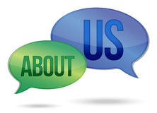 About us messages Royalty Free Stock Photography