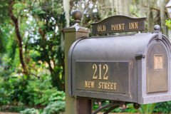 US metal mailbox Royalty Free Stock Photo