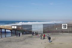 US-Mexican border in Tijuana Stock Photos