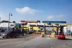 Mexico US  Border Crossing. US-Mexico Border Crossing on the Mexico side in Nuevo Progreso, Tamaulipas stock photography