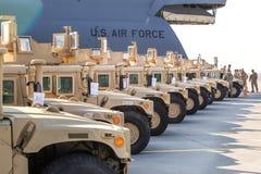 US-Militärunterstützung nach Ukraine Lizenzfreies Stockbild