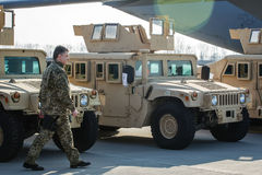 US military assistance to Ukraine Stock Image