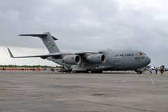 US military cargo plane in Florida stock images