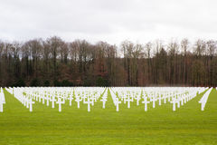 US Military Cemetery in Luxembourg Royalty Free Stock Images