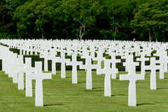 US Military graves. Row of US Military graves World War two cemetery, England Royalty Free Stock Photography
