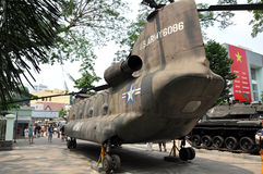 US Military helicopter exposed in the War Remnants Museum, Saigo Stock Photo