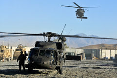 US military helicopter landing Stock Images