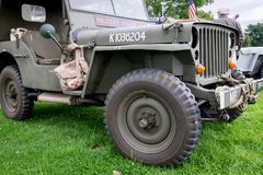 US Military Police Jeep. M5 Living History Show. stock photos