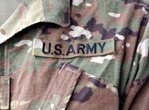 US military uniform. US troops. US soldiers. US army.  stock photography