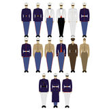 US military uniforms Royalty Free Stock Images