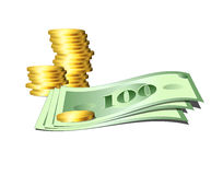 US Money - 1 Royalty Free Stock Image