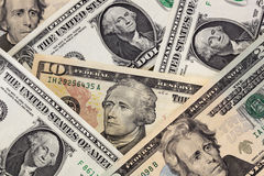 US Money Background Royalty Free Stock Photos