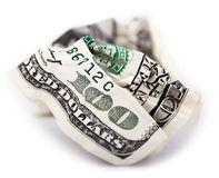 Isolated Crimped Cash Royalty Free Stock Photo