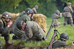 US mortar team Stock Photo