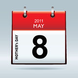 US Mothers day 2011. American and canadian mothers day for 2011 on calendar icon Royalty Free Stock Photo