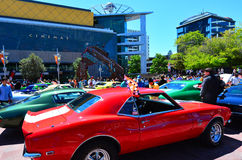 US muscle cars V8 car show Stock Images