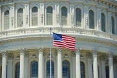 US National Flag, Washington DC, USA Royalty Free Stock Photos