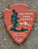 US national park service sign Royalty Free Stock Images