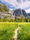 US National Parks, Yosemite National Park, California. Remarkable granite cliffs and waterfalls in mountain landscape - Yosemite National Park, California. US royalty free stock photos