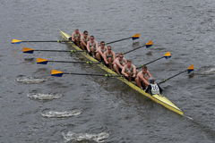 Us naval academy annapolis race in the Head of Charles Regatta Men's Championship Eights Stock Photo