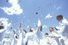 US Naval Academy Graduation Ceremony Royalty Free Stock Images
