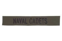 Us naval cadets uniform badge Royalty Free Stock Image