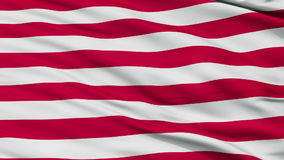 US Naval Jack Close Up Waving Flag. US Naval Jack Flag, Close Up Realistic 3D Animation, Seamless Loop - 10 Seconds Long stock video footage