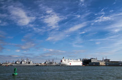US Naval Ships Chesapeake Bay Norfolk Royalty Free Stock Photos