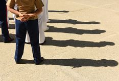 US Navy żeglarzi od plecy US Navy wojsko obrazy stock