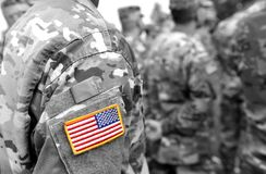 US Navy żeglarzi od plecy US Navy wojsko fotografia royalty free