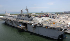 US Navy aircraft carrier Stock Image