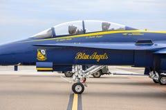 US Navy Błękitnych aniołów myśliwa F18 szerszenia kokpit zdjęcia stock