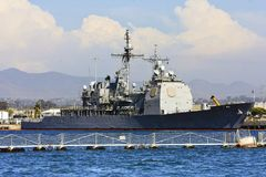 US Navy Battle Ship Stock Images