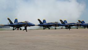 US Navy Blue Angels on Air Power Expo. UA Navy Blue Angels  on Air Power Expo, Fort Worth TX USA 2016 stock video