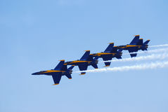 US Navy Blue Angels Delta Formation Stock Photos