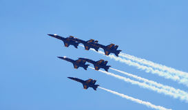 US Navy Blue Angels Delta Formation Royalty Free Stock Image