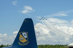 US Navy Blue Angels Practice in Pensacola Florida July 2018 Stock Photography