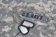 Us NAVY camouflaged uniform Royalty Free Stock Image
