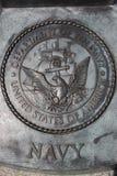 US Navy commemorative plaque Royalty Free Stock Image