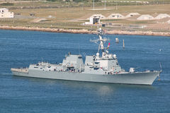 US Navy Destroyer royalty free stock photo