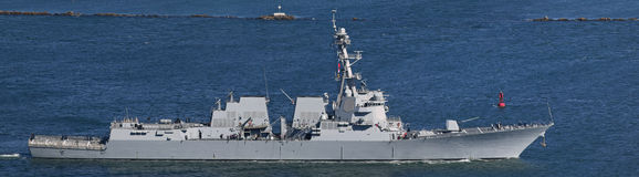 US Navy Destroyer Stock Image