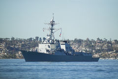 US Navy Destroyer Royalty Free Stock Photos